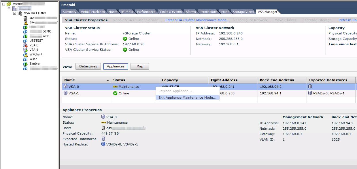 VMware VSA and Maintenance Mode – The Virtual Way