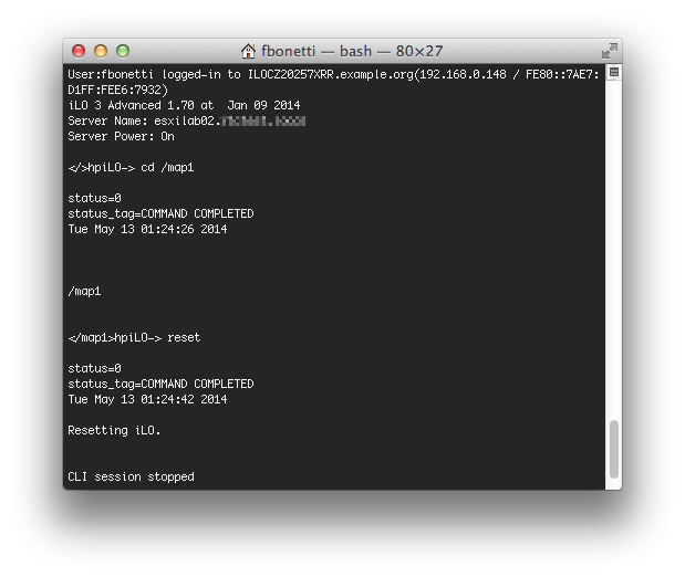 Hp iLO how to reset from Command Line – The Virtual Way