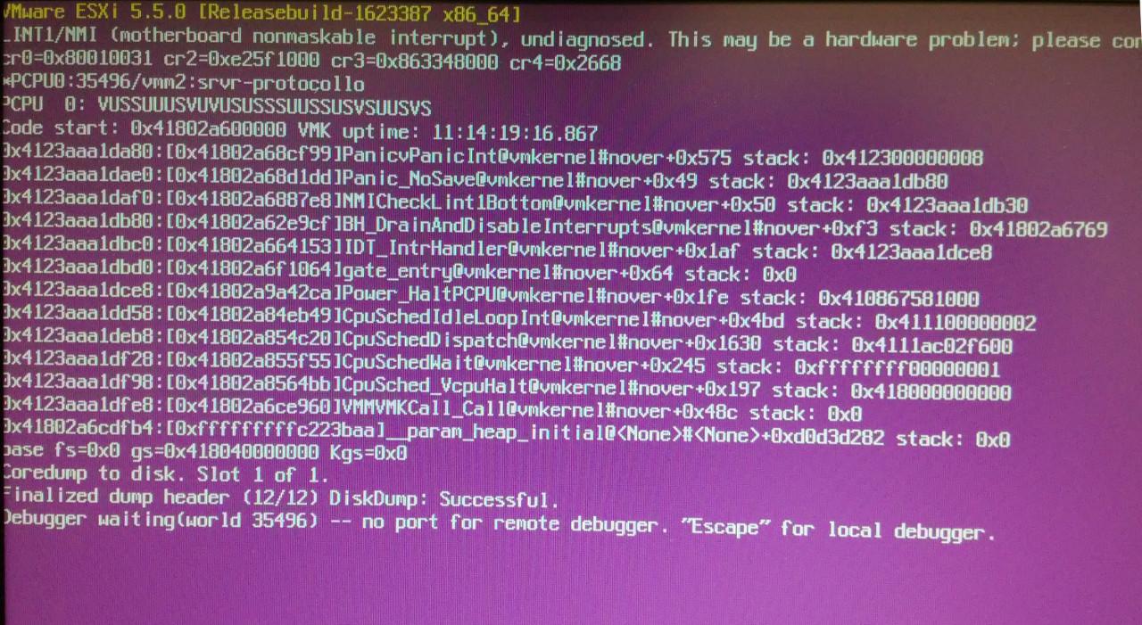 Hp iLO 4 Firmware can cause VMware ESXi PSOD and Windows